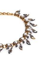 'Milky Way' Swarovski crystal 24k gold plated choker necklace