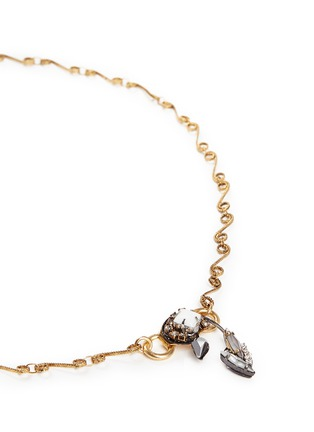 Detail View - Click To Enlarge - Erickson Beamon - 'Milky Way' Swarovski crystal 24k gold plated swirl necklace