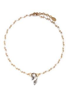 Erickson Beamon'Milky Way' Swarovski crystal 24k gold plated swirl necklace