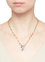 'Milky Way' Swarovski crystal 24k gold plated swirl necklace