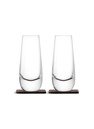 Main View - Click To Enlarge - Lsa - Whisky Islay mixer glass and walnut coaster set