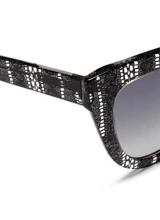 Detail View - Click To Enlarge - Linda Farrow Designers Collection - x Erdem lace print acetate cat eye sunglasses