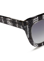 x Erdem lace print acetate cat eye sunglasses