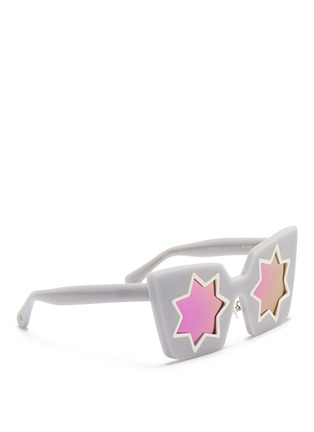 Linda Farrow Designers Collection - x Markus Lupfer star cutout acetate angular sunglasses