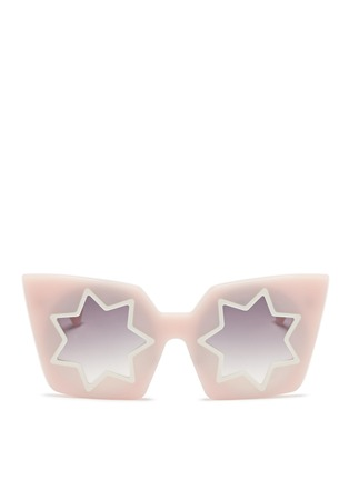 Main View - Click To Enlarge - Linda Farrow Designers Collection - x Markus Lupfer star cutout acetate angular sunglasses