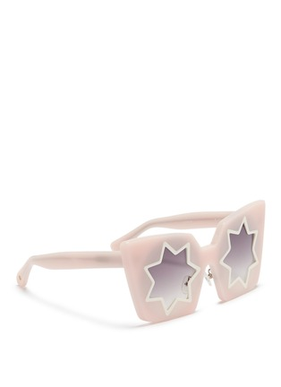 Figure View - Click To Enlarge - Linda Farrow Designers Collection - x Markus Lupfer star cutout acetate angular sunglasses