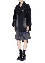 'Jovial' honeycomb sleeve wool coat