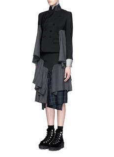 FACETASM'Euphoric' tiered patchwork pleat wool jacket