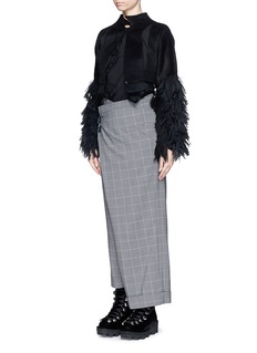 FACETASM 'Wide and Slim' windowpane check pants
