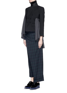 FACETASM'Wide and Slim' plaid check pants