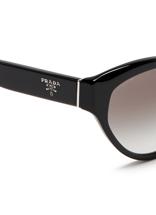 Detail View - Click To Enlarge - Prada - Acetate cat eye sunglasses