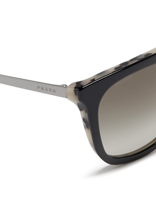 Detail View - Click To Enlarge - Prada - Shell effect acetate angular sunglasses