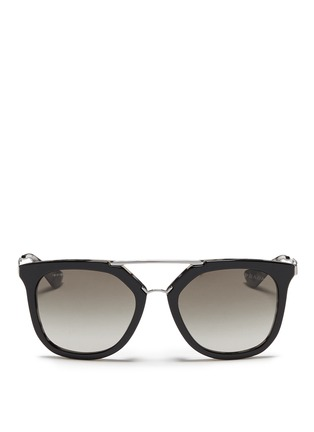 Main View - Click To Enlarge - Prada - Shell effect acetate angular sunglasses
