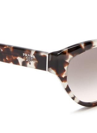 Detail View - Click To Enlarge - Prada - Tortoiseshell acetate cat eye sunglasses