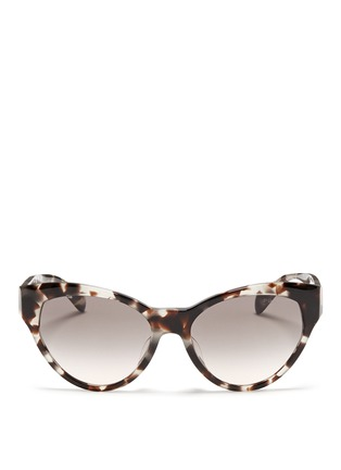 Main View - Click To Enlarge - Prada - Tortoiseshell acetate cat eye sunglasses