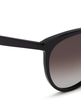 Detail View - Click To Enlarge - Valentino - Round frame acetate sunglasses