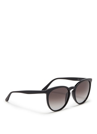 Figure View - Click To Enlarge - Valentino - Round frame acetate sunglasses