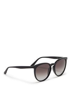 ValentinoRound frame acetate sunglasses