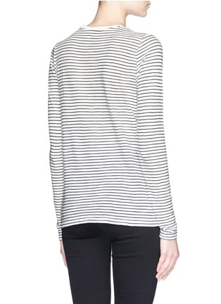 Back View - Click To Enlarge - Vince - Feeder stripe long sleeve T-shirt