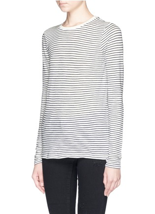 Front View - Click To Enlarge - Vince - Feeder stripe long sleeve T-shirt