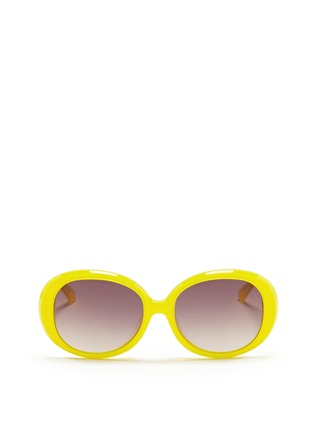 Main View - Click To Enlarge - Sons+Daughters Eyewear - 'Jackie' kids oversize acetate sunglasses