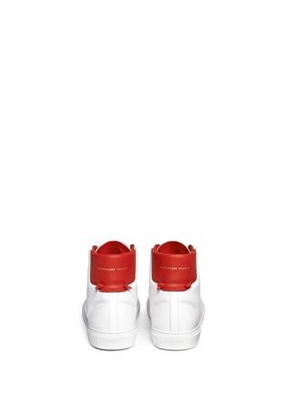 Back View - Click To Enlarge - Givenchy - Knot back high top leather sneakers