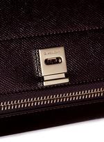 'Pandora Box' mini saffiano patent leather bag