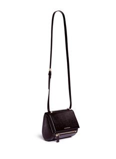 GIVENCHY'Pandora Box' mini saffiano patent leather bag