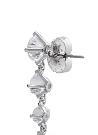 Detail View - Click To Enlarge - CZ by Kenneth Jay Lane - Graduating brilliant cut cubic zirconia earrings