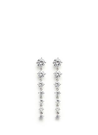 Main View - Click To Enlarge - CZ by Kenneth Jay Lane - Graduating brilliant cut cubic zirconia earrings