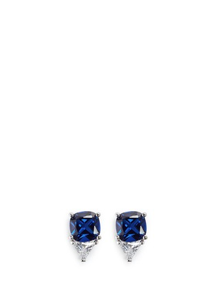 Main View - Click To Enlarge - CZ by Kenneth Jay Lane - Cushion and trillion cut cubic zirconia earrings