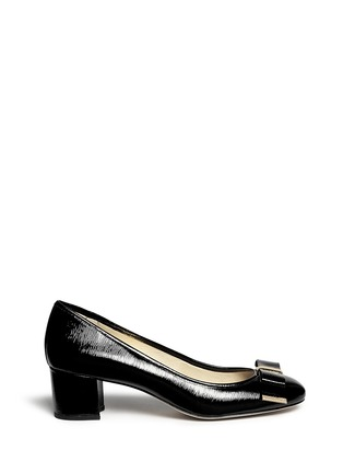 Main View - Click To Enlarge - Michael Kors - 'Kiera' bow textured patent leather pumps