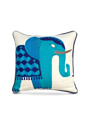 Main View - Click To Enlarge - Jonathan Adler - Jaipur bead elephant linen pillow