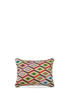 Jonathan Adler Multi diamonds bargello throw pillow