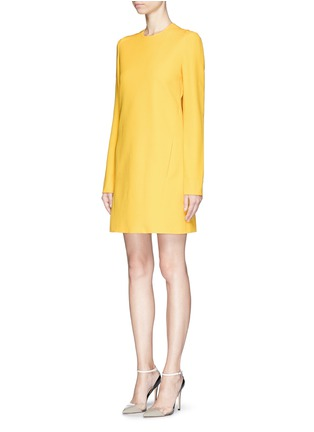Front View - Click To Enlarge - Victoria Beckham - Open bow back double crepe shift dress