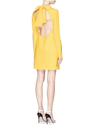 Figure View - Click To Enlarge - Victoria Beckham - Open bow back double crepe shift dress