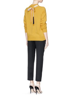 VICTORIA BECKHAM Bow back lambswool sweater