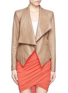 HELMUT LANGDrape collar wrap leather jacket
