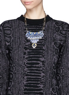 IOSSELLIANI Crystal plastron necklace