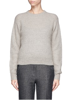 T BY ALEXANDER WANG Rib knit mohair blend sweater
