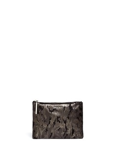 JIMMY CHOO Camouflage zip leather pouch