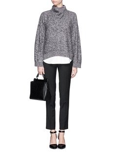 3.1 PHILLIP LIM Funnel collar mohair sweater