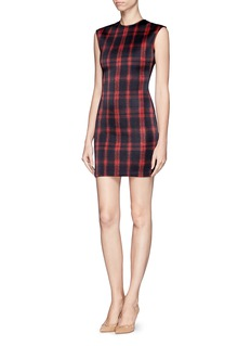 TORN BY RONNY KOBO 'Morgan' check neoprene dress