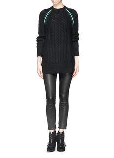 T BY ALEXANDER WANG Cable knit tunic sweater