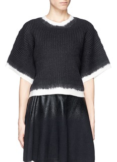 3.1 PHILLIP LIM Felted contrast trim cropped sweater
