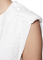 Diamond jacquard sleeveless shift dress