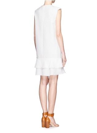 Back View - Click To Enlarge - Chloé - Diamond jacquard sleeveless shift dress