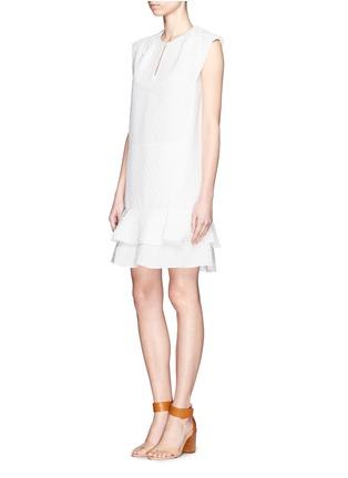 Front View - Click To Enlarge - Chloé - Diamond jacquard sleeveless shift dress