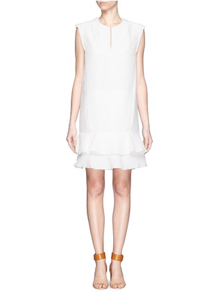 Main View - Click To Enlarge - Chloé - Diamond jacquard sleeveless shift dress