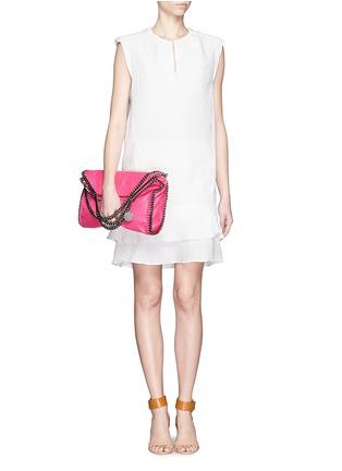 Figure View - Click To Enlarge - Chloé - Diamond jacquard sleeveless shift dress